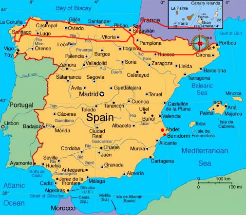 Spagna Galizia Cartina.Galizia Viaggio Moto
